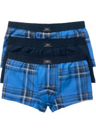 Boxer (3er-Pack), bpc bonprix collection, blau kariert