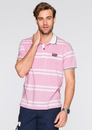 Poloshirt Regular Fit, bpc selection, rosa/weiß gestreift
