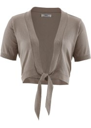 Basic Feinstrick-Bolero, bpc bonprix collection, taupe