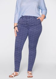 Jeansleggings – designt von Maite Kelly, bpc bonprix collection, blue stone/weiß bedruckt