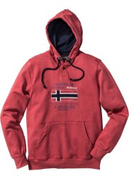 Sweatshirt mit Kapuze Regular Fit, bpc selection, rot