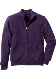 Sweatjacke, Regular Fit, bpc bonprix collection, dunkellila
