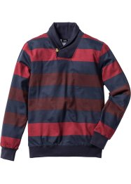 Sweatshirt m. Schalkragen Regular Fit, bpc selection, dunkelblau/rot gestreift