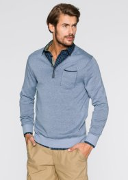 V-Pullover Regular Fit, bpc bonprix collection, hellblau meliert