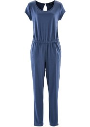 Jersey-Jumpsuit, bpc bonprix collection, indigo meliert