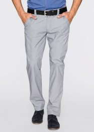 Chino-Hose Regular Fit Straight, bpc bonprix collection, indigo/weiß gemustert