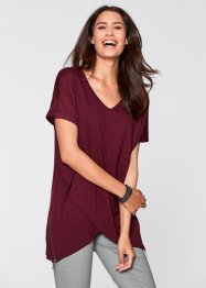Shirt im Lagenlook mit halbem Arm, bpc bonprix collection, ahornrot