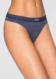 String (5er-Pack), bpc bonprix collection, blau/grau meliert