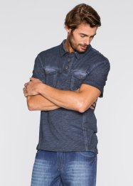 Poloshirt Regular Fit, bpc bonprix collection, dunkelblau