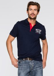 Poloshirt in Regular Fit, John Baner JEANSWEAR, dunkelblau/weiß