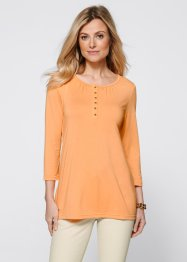 Shirtbluse mit 3/4 Arm, bpc selection, aprikose/gold