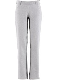 Jog-Pants mit Einsatz, bpc bonprix collection, hellgrau meliert