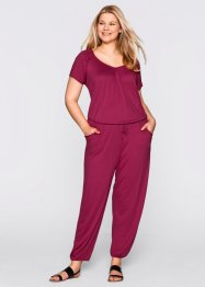 Basic Overall Viskose Stretch-Jersey, bpc bonprix collection, beerenrot