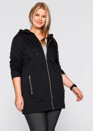 Long-Sweatjacke, bpc bonprix collection, rot