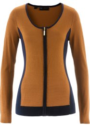 Strickjacke, bpc selection, bronze/dunkelblau