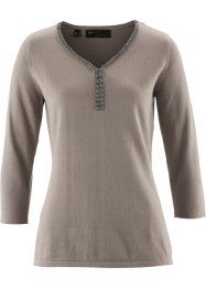 Pullover aus Pima Cotton, bpc selection premium, taupe