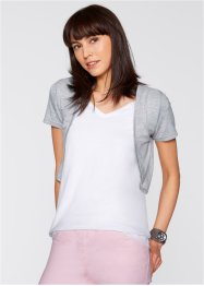 Shirt-Bolero, bpc bonprix collection, hellgrau meliert