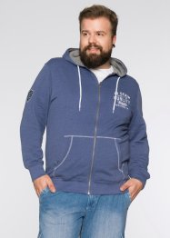 Sweatjacke Regular Fit, John Baner JEANSWEAR, indigo meliert