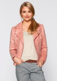 Velourslederimitat-Jacke, bpc bonprix collection, hellkoralle