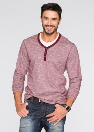 2-in-1-Langarmshirt Regular Fit, bpc bonprix collection, ahornrot meliert