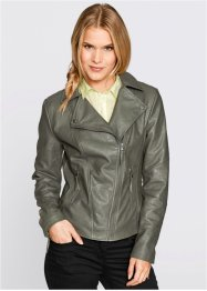 Lederimitatjacke, bpc bonprix collection, marsalabraun