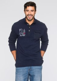 Troyerpullover im Regular Fit, bpc bonprix collection, schwarz