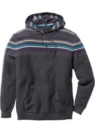 Pullover mit Kapuze Regular Fit, bpc bonprix collection, grau meliert
