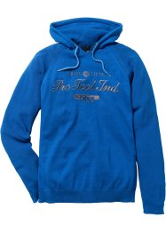 Pullover mit Kapuze im Regular Fit, bpc bonprix collection, azurblau