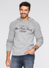 Pullover mit Kapuze im Regular Fit, bpc bonprix collection, hellgrau meliert