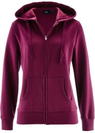 Sweatjacke, bpc bonprix collection, beere