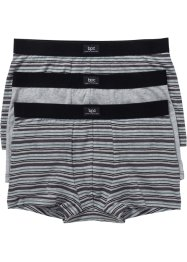 Boxer (3er-Pack), bpc bonprix collection, gestreift