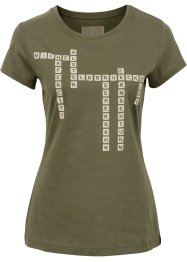 Shirt mit coolem Hamburg-Scrabble, RAINBOW, oliv