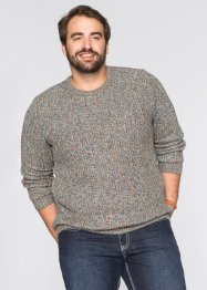 Pullover Regular Fit, bpc bonprix collection, petrol meliert