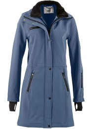 Stretch-Softshell-Langjacke, bpc bonprix collection, indigo