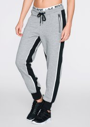 Lange Jogginghose, bpc bonprix collection, hellgrau meliert