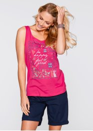 Top, bpc bonprix collection, dunkelpink bedruckt