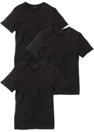 V-T-Shirt (3er-Pack) Regular Fit, bpc bonprix collection
