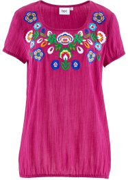 Tunika,Kurzarm, bpc bonprix collection, mittelfuchsia