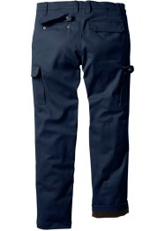 Thermo-Cargohose Regular Fit Straight, bpc bonprix collection, dunkelblau