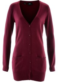 Basic Feinstrick-Jacke, bpc bonprix collection, ahornrot
