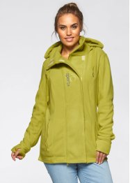 Fleece-Langjacke, bpc bonprix collection, pistazie