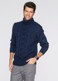 Rollkragenpullover, Slim Fit, bpc bonprix collection, dunkelblau
