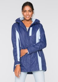 3-in-1-Outdoorjacke, bpc bonprix collection, schiefergrau/limettengrün