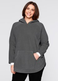 Fleece-Poncho-Pullover, bpc bonprix collection, wollweiß