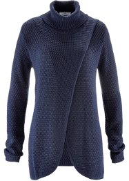 Rollkragen-Pullover in Wickel-Optik, bpc bonprix collection