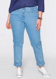 Figurformende knöchellange Stretch-Jeans, bpc bonprix collection, medium blue bleached