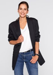 Blazerjacke, bpc bonprix collection, schwarz