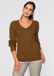 Pullover, bpc bonprix collection, cognac braun