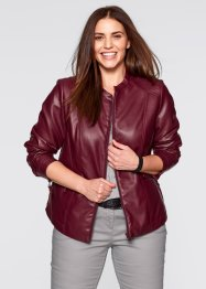 Lederimitat-Jacke, bpc bonprix collection, ahornrot