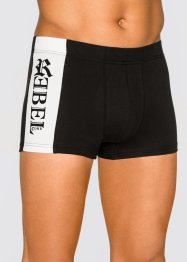 Boxer (3er-Pack), bpc bonprix collection, schwarz/weiß/rot